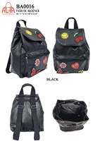 BA0016 - Embroidery Emblem Fashion Backpack (24 pcs per case)