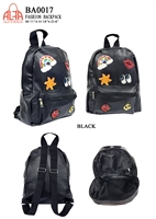 BA0017 - Embroidery Emblem Fashion Backpack (24 pcs per case)