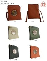 CA2433 - Circle Emblem Style Fashion Handbag (12pcs per case)