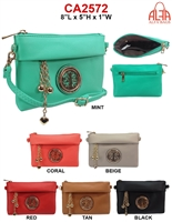 CA2572 - Circle Emblem Style Fashion Handbag (12pcs per case)