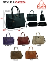 CA2924 - Triangle Emblem Fashion Handbag (12pcs per style)