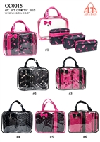 CC0015 - Traditional Case Style 4 Pieces Set Cosmetic Bag (24pcs per case)