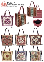 FC0017 - Vintage Embroidery Tapestry Tote Bag (24pcs per case)