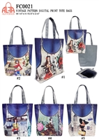 FC0021 - Vintage Destination Digital Print Toto Bag (48pcs per case)