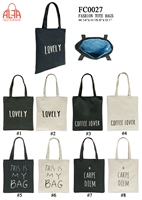 FC0027 - Words Print Toto Bag (48pcs per case)