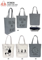 FC0028 - Words Print Toto Bag (48pcs per case)