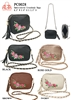 PC0028 - Colored Fashion Crossbody with Embroidery Rose (24 pcs per case)