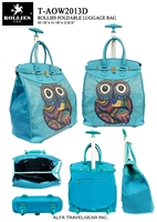 T-AOW2013D - Single Owl Rollies Rolling Tote ( 6pcs per case)
