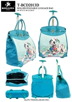 T-BCD2013D - Colorful Printing Dog Rollies Rolling Tote ( 6pcs per case)