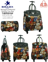T-BER2016A - Bears Lover 4 wheels / 360 degree style Rollies Rolling Tote ( 6pcs per case)
