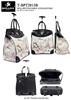 T-BPT2013D - Paris Romantic Destination Rollies Rolling Tote ( 6pcs per case)