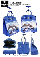 T-DSA2013D - Dolphin Jumping Rolling Tote ( 6pcs per case)