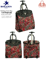 T-FTP2013B - Paisley Print Rollies Rolling Tote ( 6pcs per case)