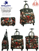 T-GSG2016A - Colorful Floral 4 wheels / 360 degrees Style Rollies Rolling Tote ( 6pcs per case)