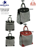 T-HTC2013B - Houndstooth Rollies Rolling Tote ( 6pcs per case)