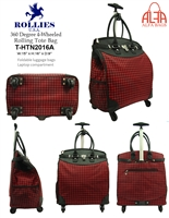 T-HTN2016A -Houndstooth 4 wheels / 360 degrees Style Rollies Rolling Tote ( 6pcs per case)