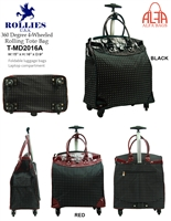 T-MD2016A - Polka Dot 4 wheels / 360 degrees Rollies Rolling Tote ( 6pcs per case)
