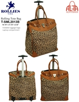 T-SML2013B - Young Leopard Skin Rollies Rolling Tote ( 6pcs per case)