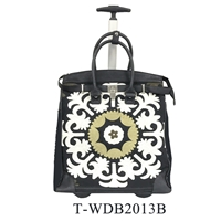 T-WDB2013B - Embroidery Rollies Rolling Tote ( 6pcs per case)