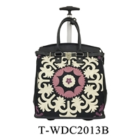 T-WDC2013B - Embroidery Rollies Rolling Tote ( 6pcs per case)