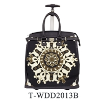 T-WDD2013B - Embroidery Rollies Rolling Tote ( 6pcs per case)