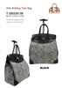 T-XRS2013B - Classic Paisley  Rollies Rolling Tote ( 6pcs per case)