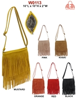 W0113 - American Style Fringe Crossbody Purse (24pcs per case)