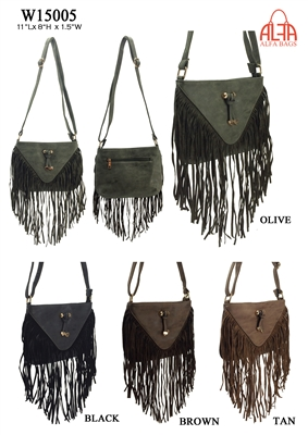 W15005 - American Style Fringe Crossbody Purse (24pcs per case)