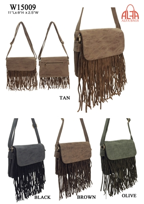 W15009 - American Style Fringe Crossbody Purse (24pcs per case)