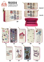 WA0004 - Funky Cat Fashion Wallet (72pcs per case)