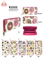 WA0008 - Donuts & Pizzas  Fashion Wallet (72pcs per case)