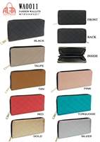 WA0011 - Quilted Solid Fashion Wallet (72pcs per case)