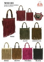 WOO001 - American Style Fringe Suede Purse  (24pcs per case)