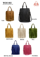 WOO002 - American Style Fringe Faux Leather Purse (24pcs per case)