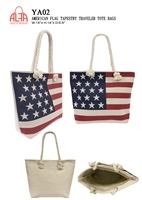 YA02 - American Flag Tote Bag (36pcs per case)
