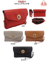YA801 - Circle Emblem Style Fashion Handbag (12pcs per case)