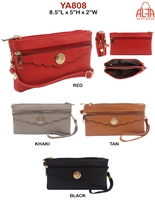 YA808 - Circle Emblem Style Fashion Handbag (12pcs per case)