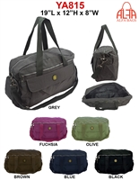 YA815 - ALFA Nylon Duffle Bag (24 pcs per case)