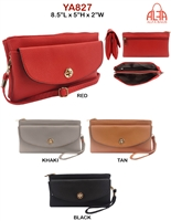 YA827 - Circle Emblem Style Fashion Handbag (12pcs per case)