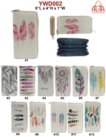 YWD002 - Feather Fashion Wallet (72pcs per case)
