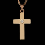 14K Gold Diamond Cross