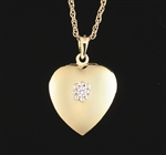 14K Gold Diamond Heart