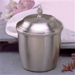 Spun pewter cremation urn