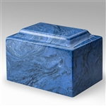 Mystic Blue Ionian Cultured Marble Urn