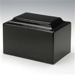 Black Granitex Cultured Marble Urn