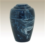 Navy Small Grecian Cultured Marble Urn