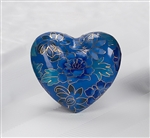 Blue Copper Cloisonné Heart
