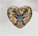 Gold Copper Cloisonné Heart