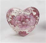Rose Copper Cloisonné Heart