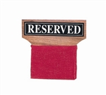 "Wood ""Reserved"" Seat Signs"